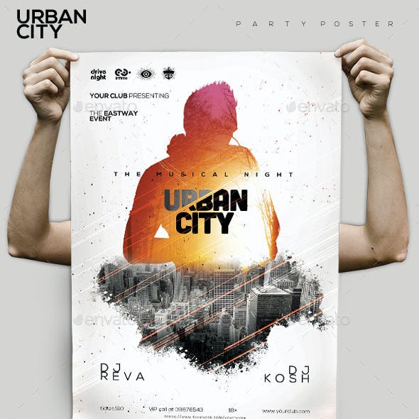 Urban City Party Flyer/Poster