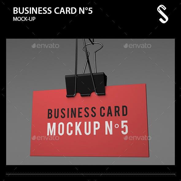 Business Card Mockup N5