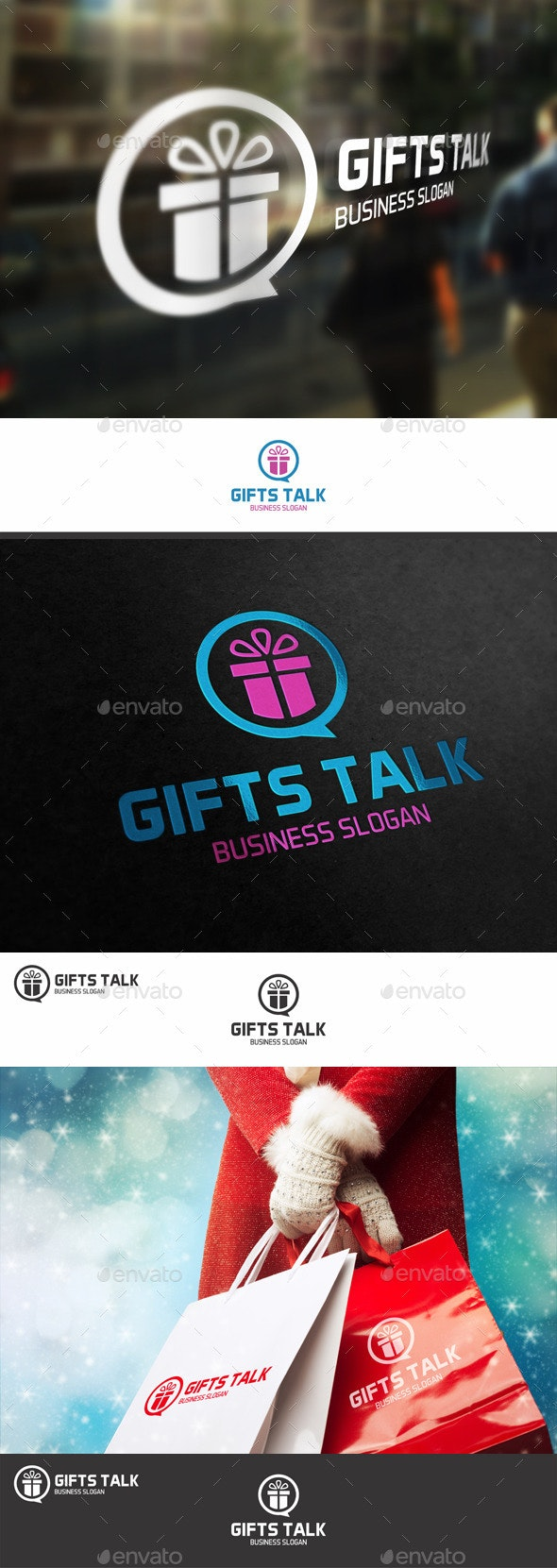 Talk About Gifts Logo - Objects Logo Templates
