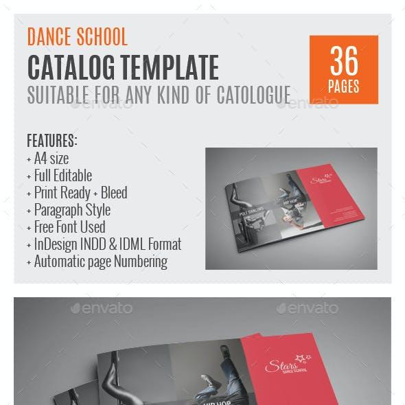 Dance School A4 InDesign Catalog Template