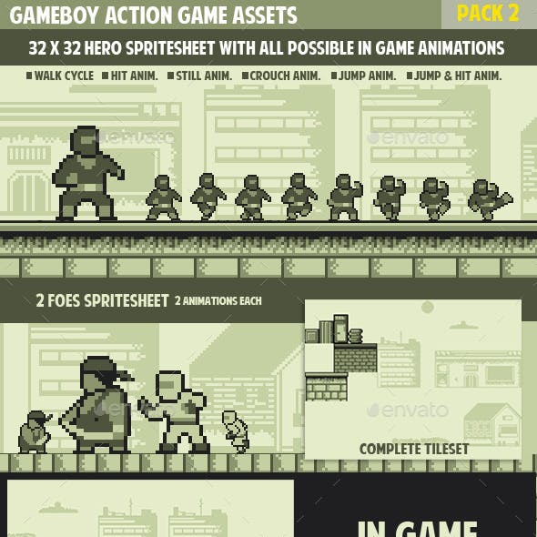 Gameboy Action Game Pack 2