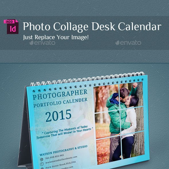 InDesign - Photo Collage Desk Calendar