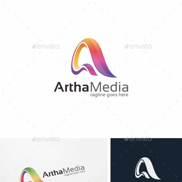 Abstract Colorful Letter A - Logo Template