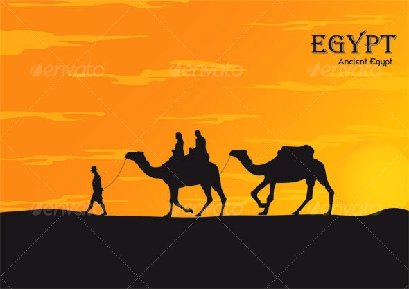 Romantic tour at sunset - Ancient EGYPT and camels - Sports/Activity Conceptual