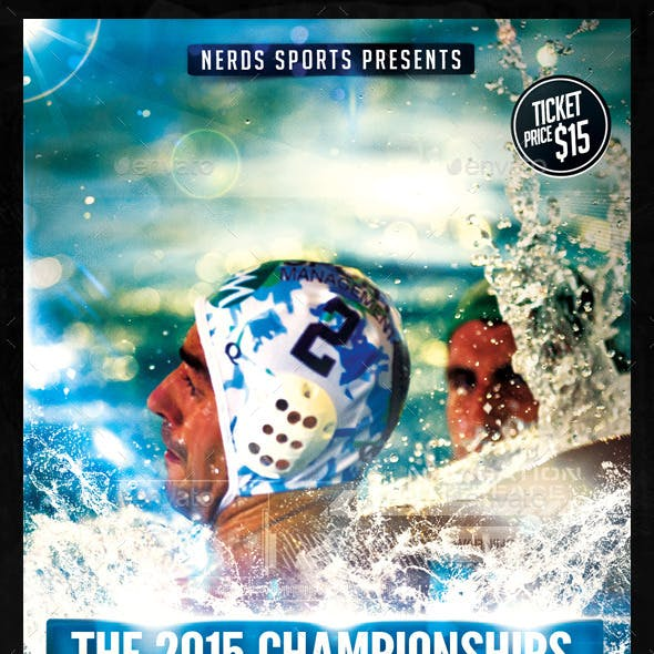 Water Polo Championships Sports Flyer
