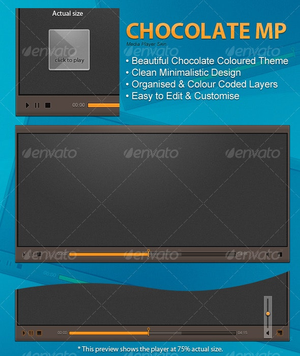 Chocolate MP Media Player - Web Elements