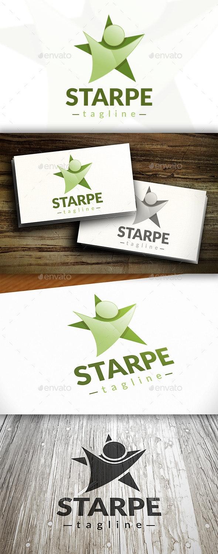 People Star Logo - Humans Logo Templates