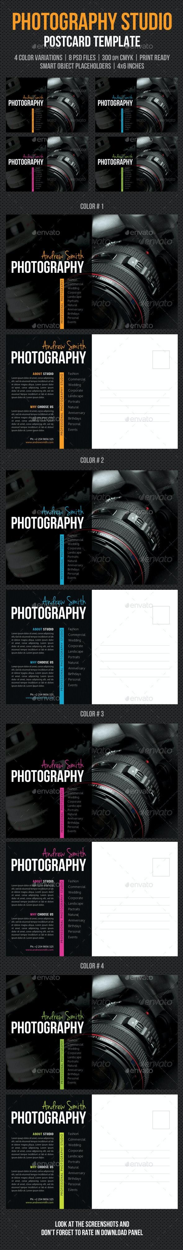 Photography Studio Postcard Template V03 - Cards & Invites Print Templates