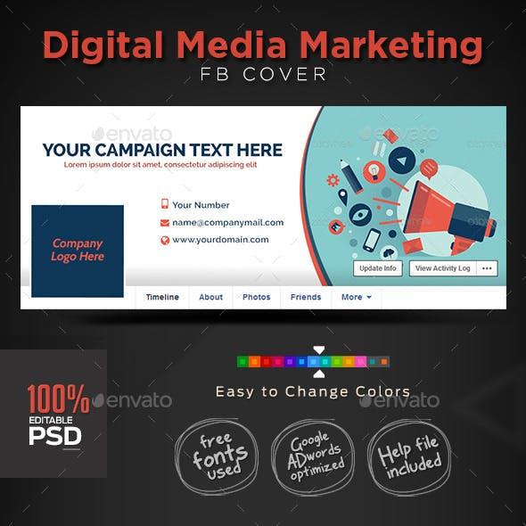 Digital Media Marketing Facebook Covers