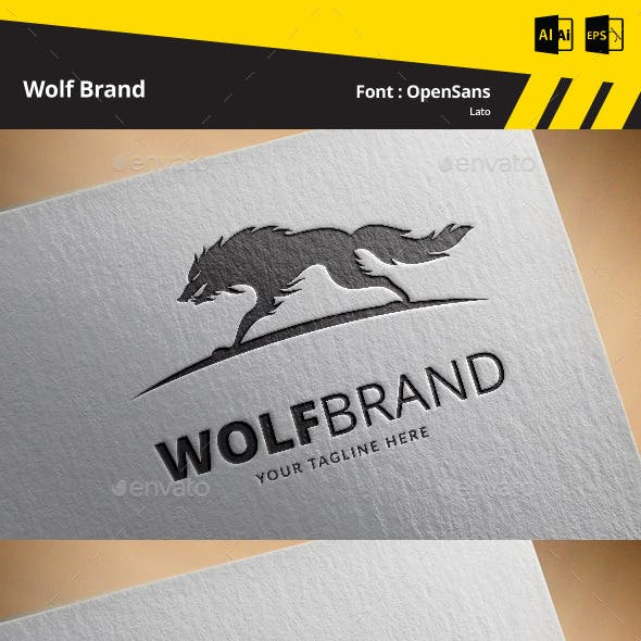 Wolf Brand Logo Template