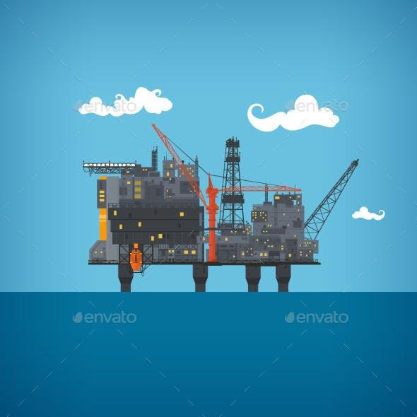 Sea Oil Platform