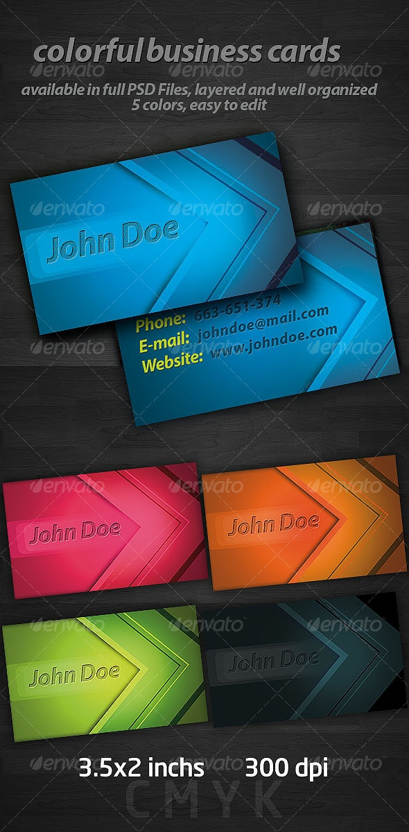 Colorful Business Cards - Creative Business Cards