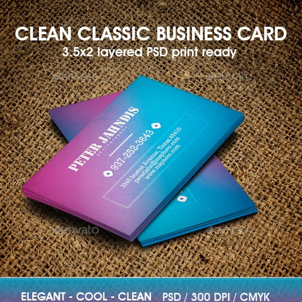 Retro Color Business Card