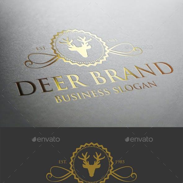 Deer Brand Crest Logo