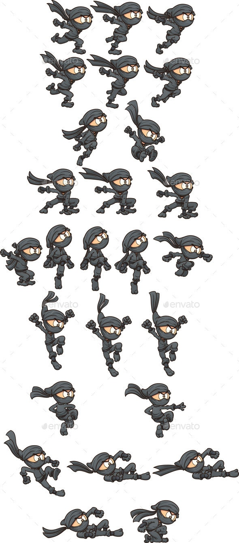 Ninja Sprites - Sprites Game Assets