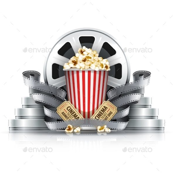 Popcorn Film-Strips and Disks with Cinema