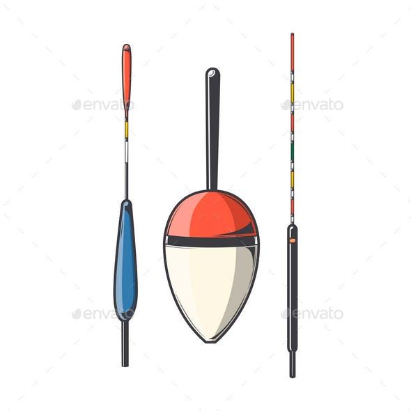 Set of Fishing Floats