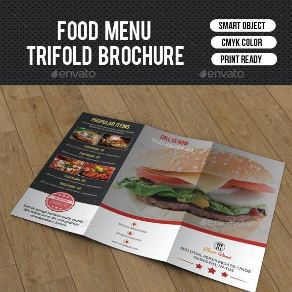 Food Menu Trifold Brochure-V205