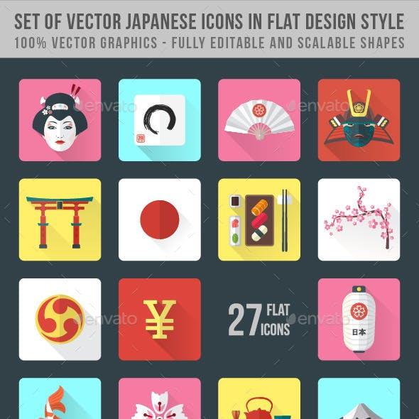 Set of Japanese Icons