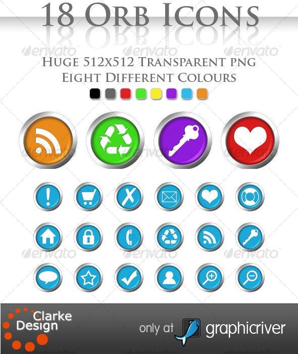18 Orb Icons - Web Icons