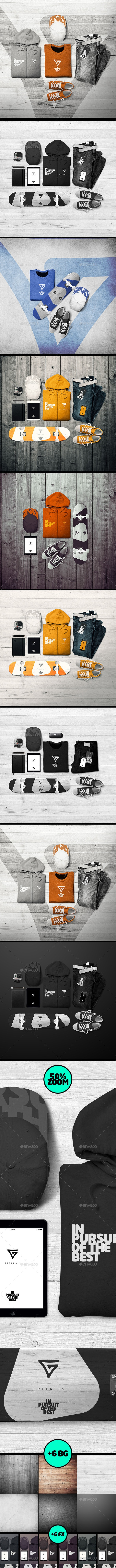Branding Apparel / Clothing mock-up - T-shirts Apparel