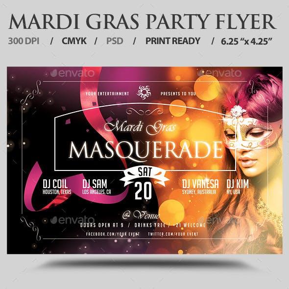 Mardi Gras / Carnival Flyer Template PSD V4