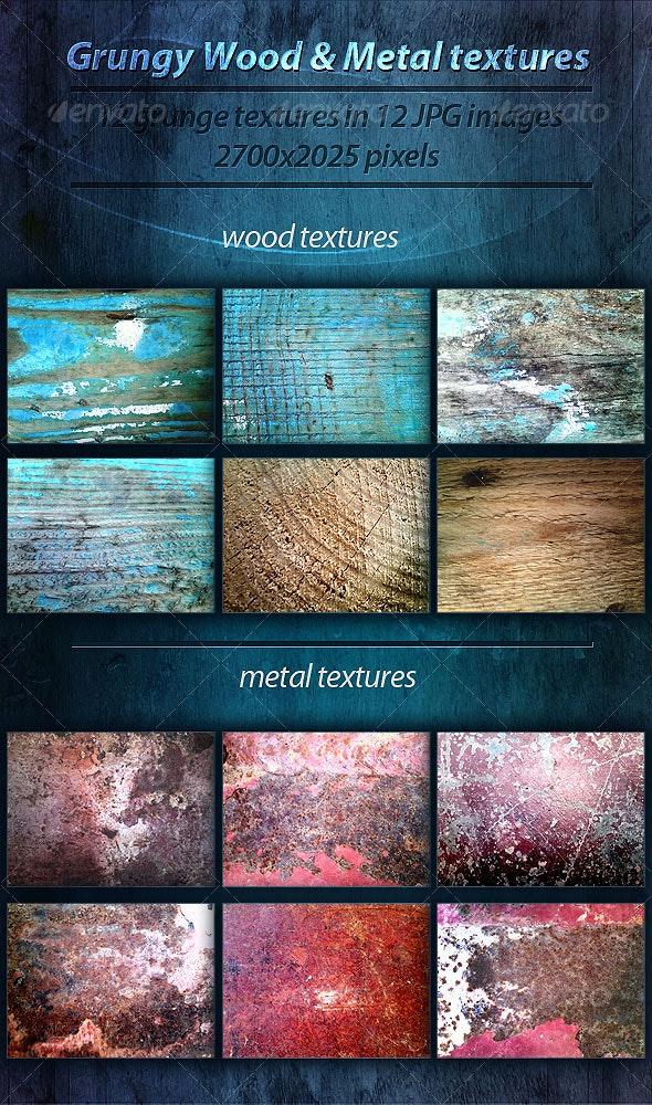 Grungy Wood & Metal textures - Industrial / Grunge Textures