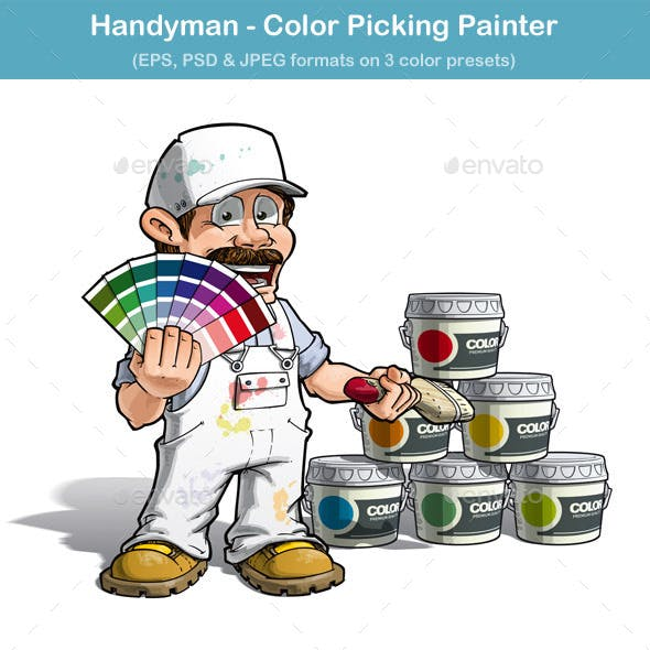 Handyman Color Picking Painter