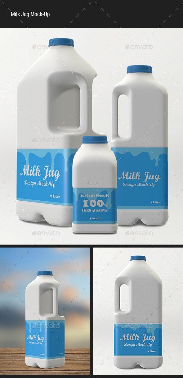 Milk Jug Mock-Up - Food and Drink Packaging