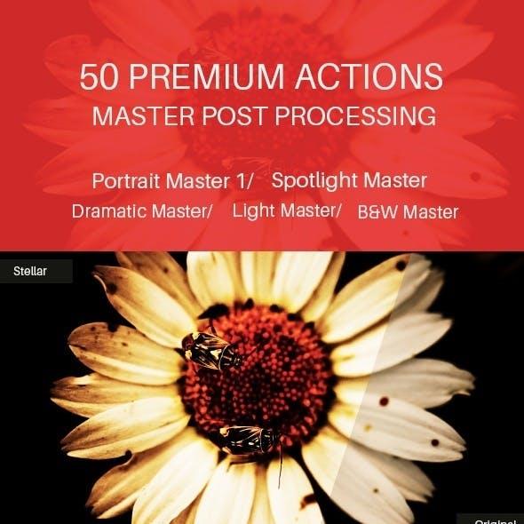 50 Premium Actions Master Post Processing