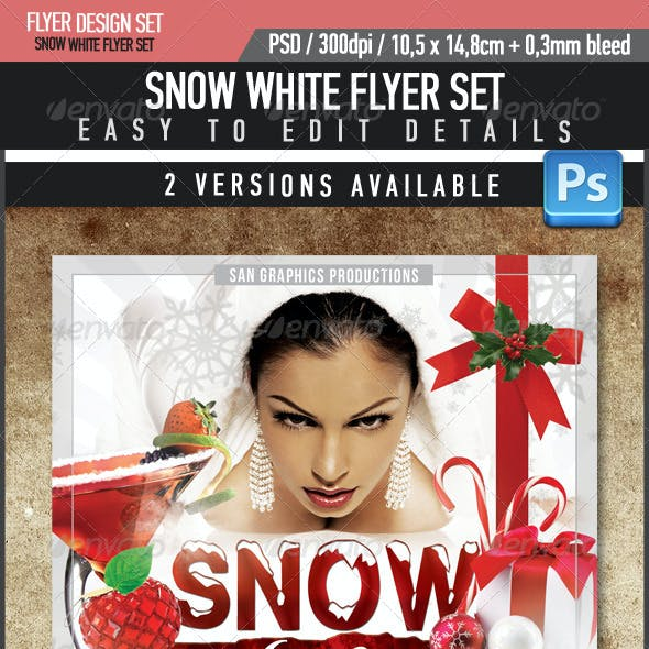Snow White Flyer Template