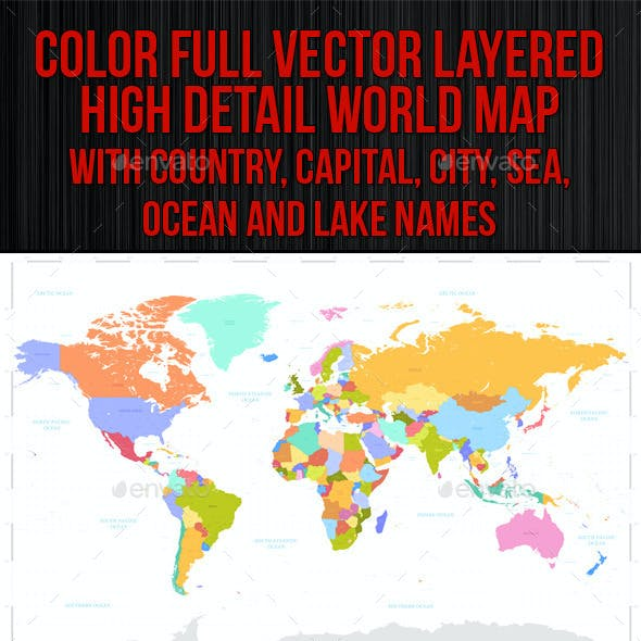 Vector Colorful World Map