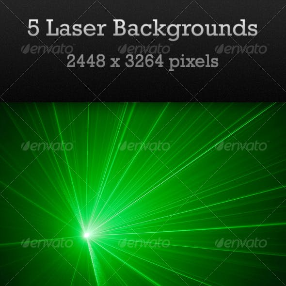 Five Laser Backgrounds