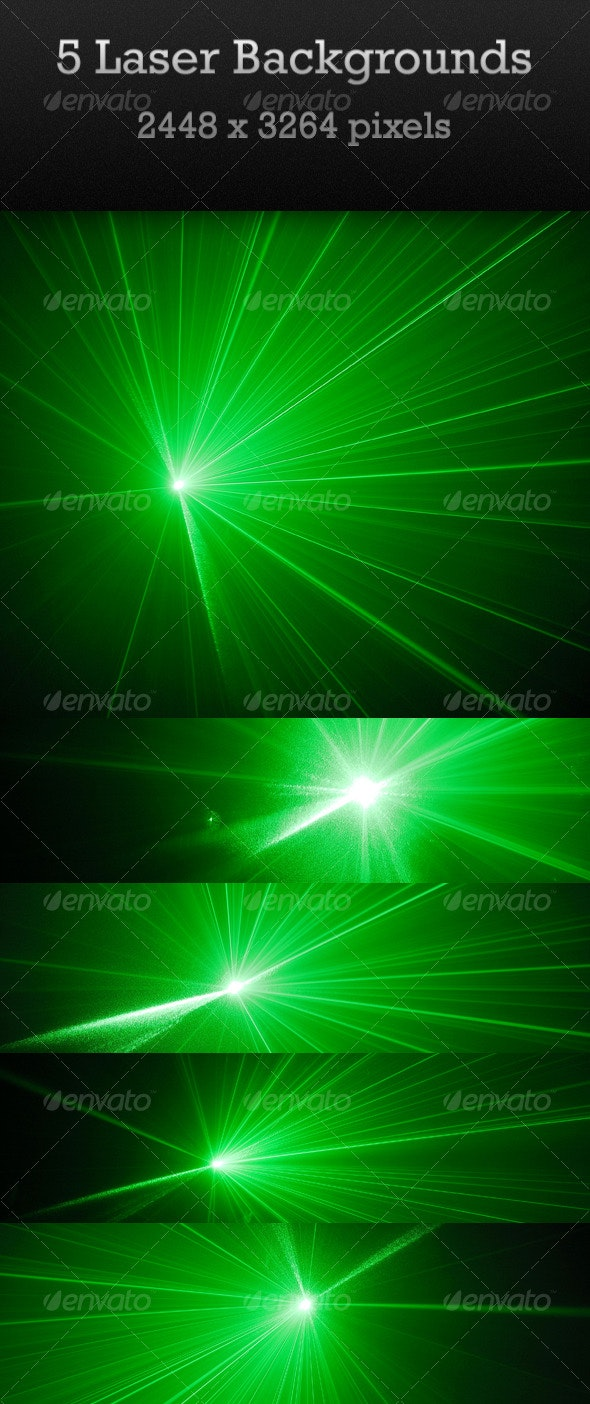 Five Laser Backgrounds - Abstract Backgrounds