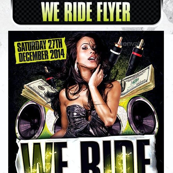 We Ride Club Flyer