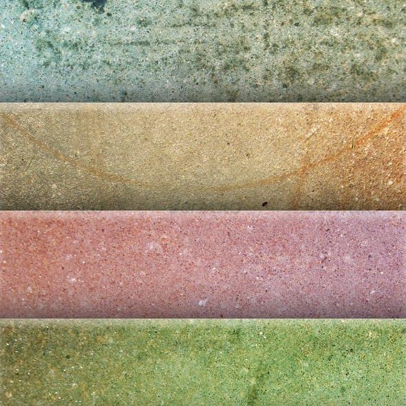 Five Colorful Concrete Textures