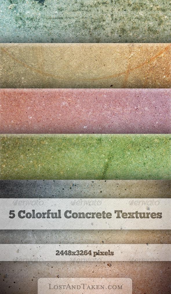 Five Colorful Concrete Textures - Concrete Textures