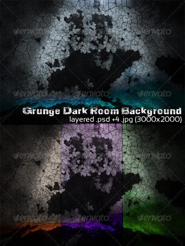 Grunge Dark Room Background - 3D Backgrounds