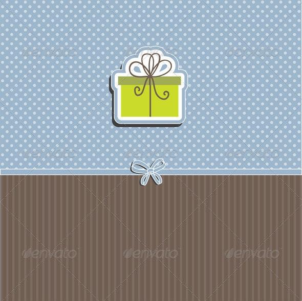 Cute Christmas Gift Background - Christmas Seasons/Holidays