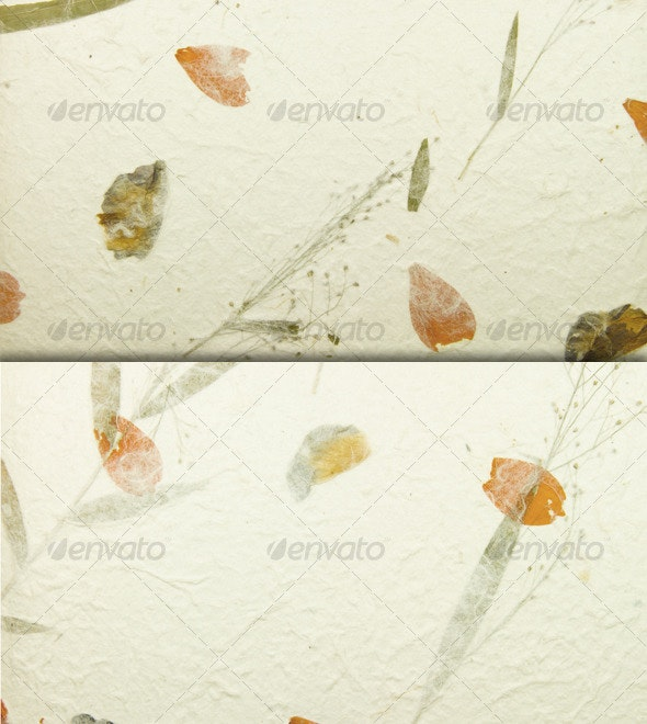 Floral Handmade Paper Background - Miscellaneous Backgrounds