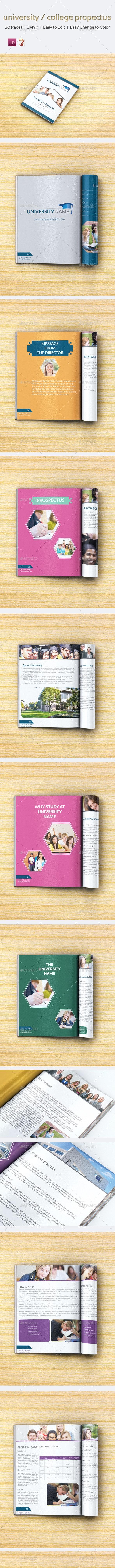 University/College Prospectus Template - Catalogs Brochures