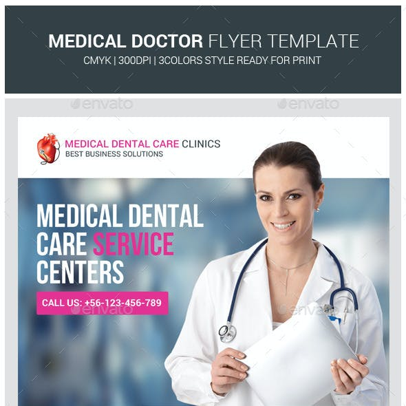 Health & Medical Doctors Flyer Template