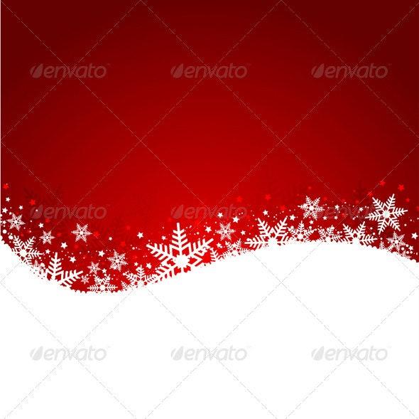 Christmas Snowflake Background - Backgrounds Decorative