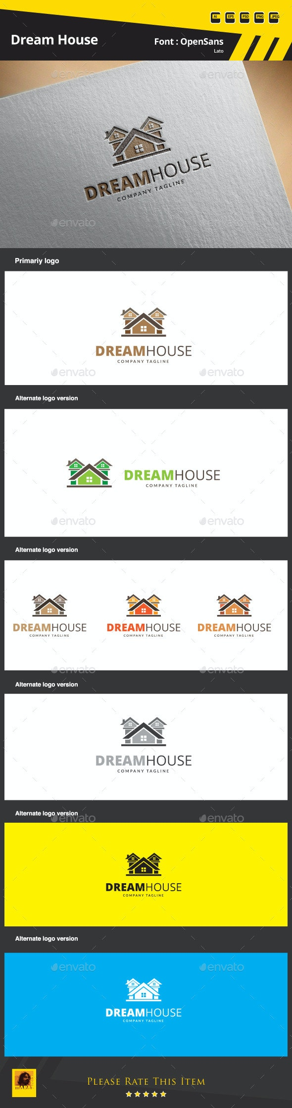 Dream House Logo Template