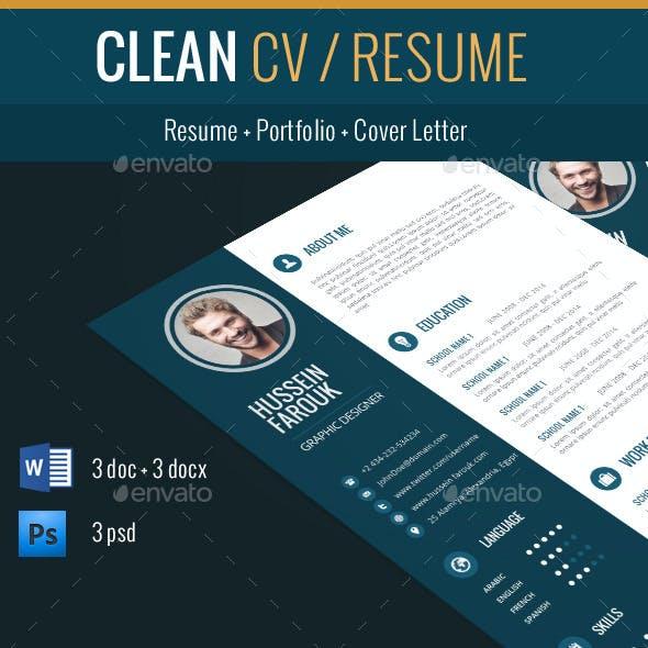 Clean Cv / Resume