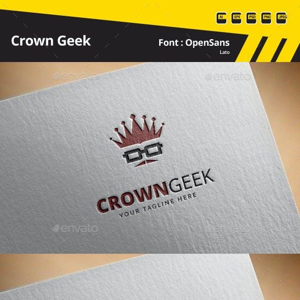 Crown Geek Logo Template