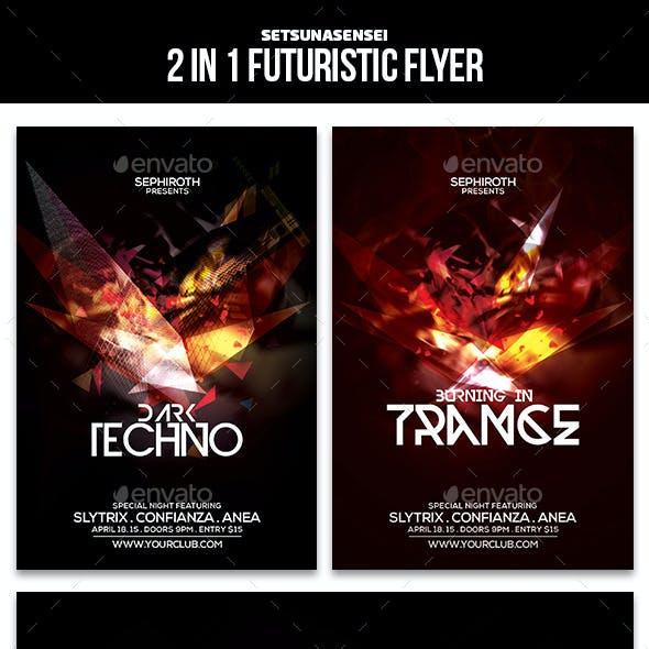 2 in 1 Futuristic Flyer