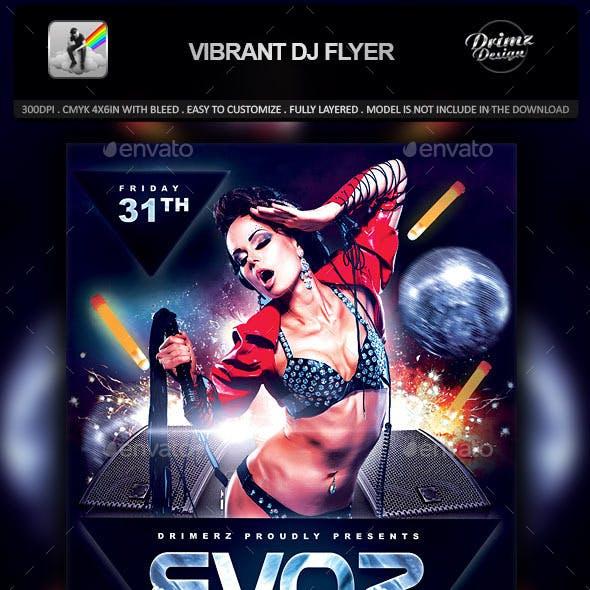 Vibrant DJ Flyer