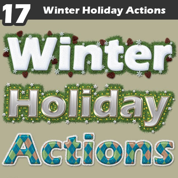 Winter Holiday Actions