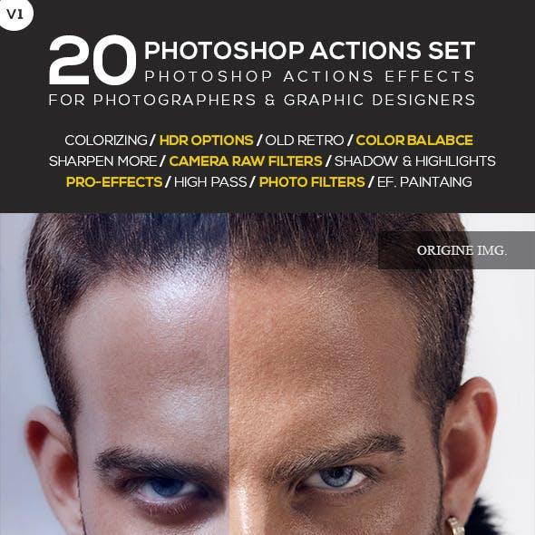 20 Photoshop Actions Set Vol.1